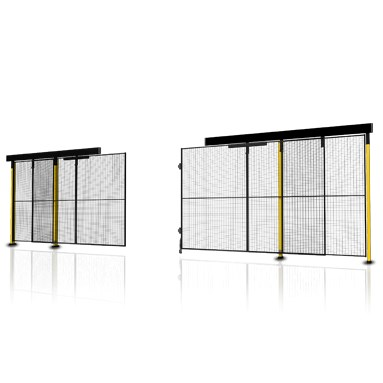 Sliding door without rail with centre lock (1)