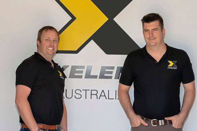 Drew Hoxey and Rob Quinn at Axelent Australia